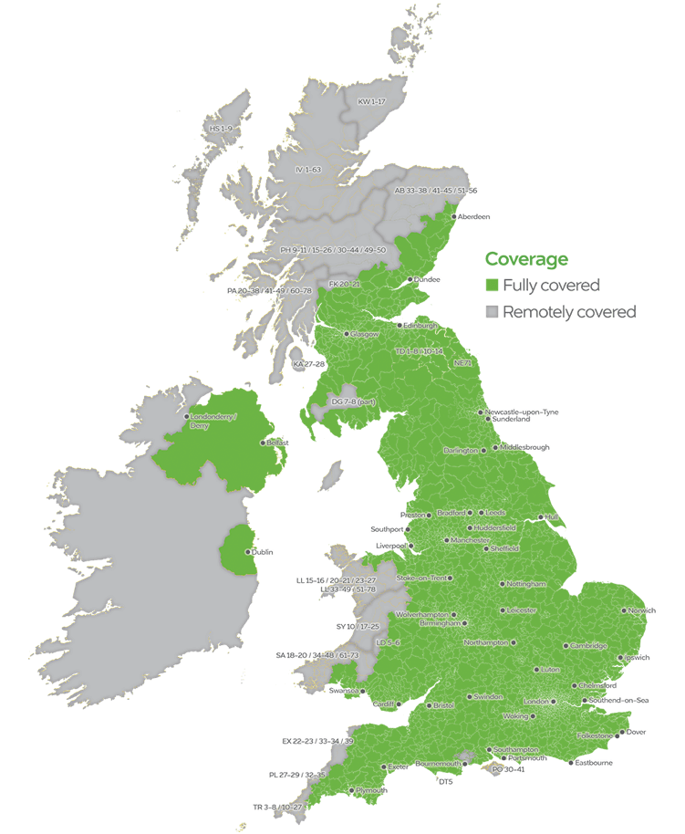 uk map of handsfree coverage
