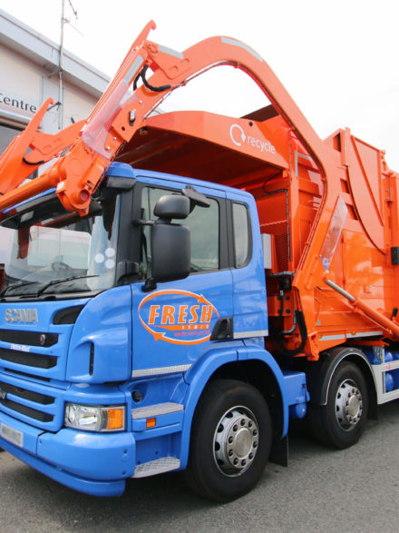 Fresh Scania Refuse Truck