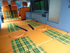 """Volkswagen Transporter T5 – Camper Full 6""""x5"""" double bed"""