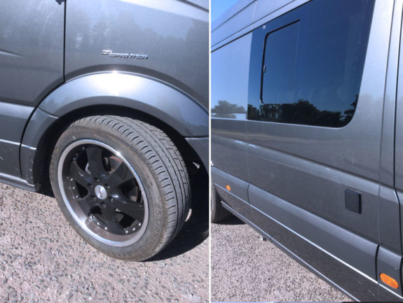 "Merc Sprinter - Sports Tourer | 20"" black / Chrome alloy wheels"