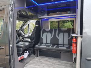Merc Sprinter - Sports Tourer | Interior trimmed in suede