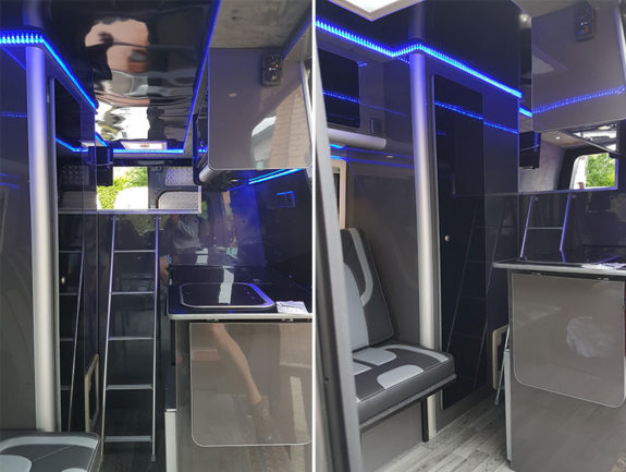 Merc Sprinter - Sports Tourer | Ladder to high level double bed
