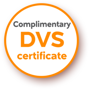 Complimentary DVS Certificate