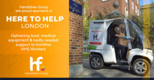 Here to Help London, helping to deliver food, medical supplies
