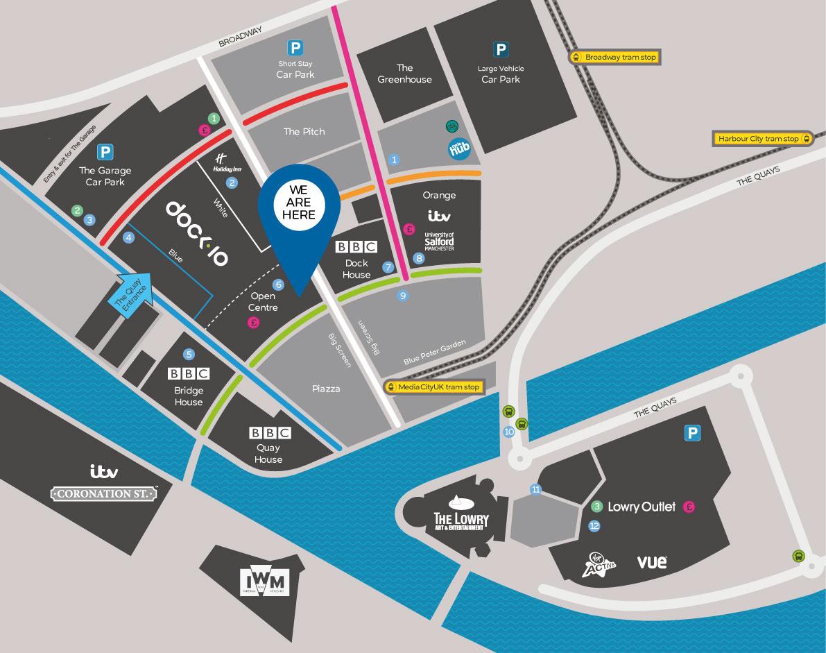 Media City map