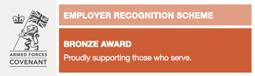 Bronze Award - Armed Forces Covenant Employer Recognition Scheme
